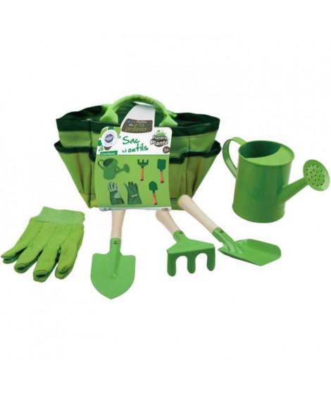 MGM -  Set jardinage 6 pieces - Sac en tissu vert