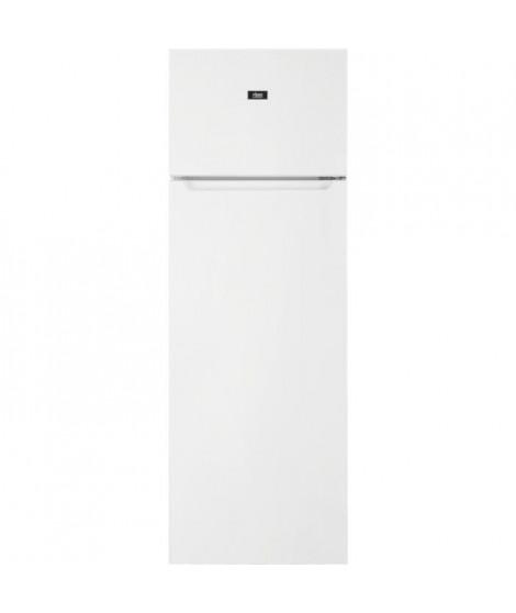 FAURE FTAN28FW2 Réfrigérateur congélateur haut - 242L (201L+41L) - froid statique - L55x H 161cm - Blanc