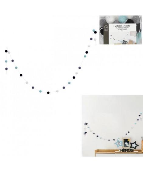 CMP Guirlande pompons - 200x2,5x2,5cm - Garçon - x24 boules M24