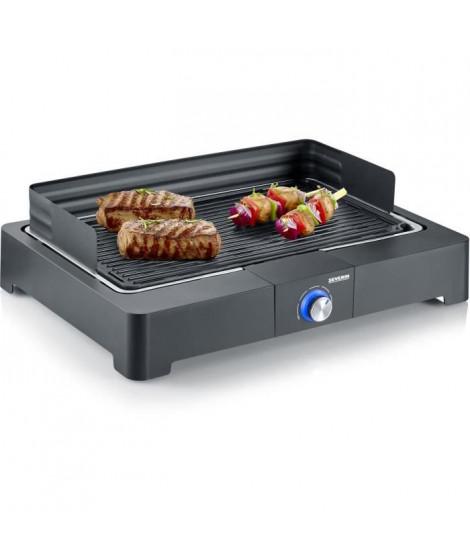 SEVERIN PG8562 Barbecue de table électrique - 2200W - Gril en fonte d'aluminium - Bac a eau réducteur de fumée et d'odeurs - …