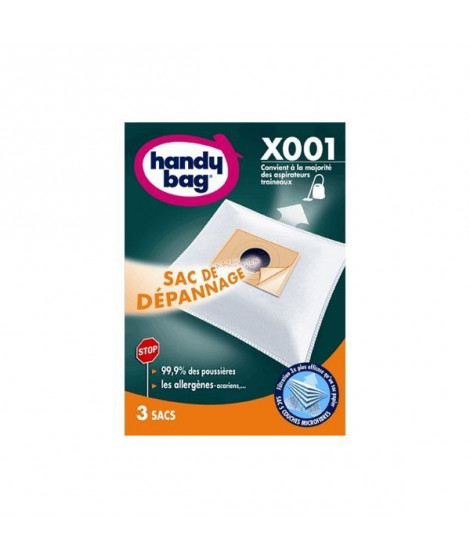 HANDY BAG X001 Sacs de dépannage pour aspirateur traîneaux