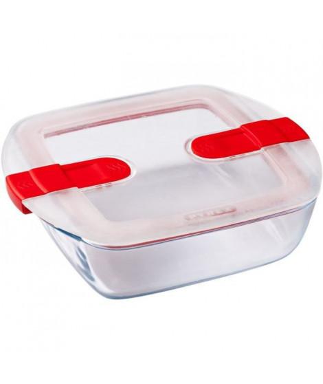 PYREX - COOK&HEAT - Boîte carrée en verre avec couvercle 20*17 cm