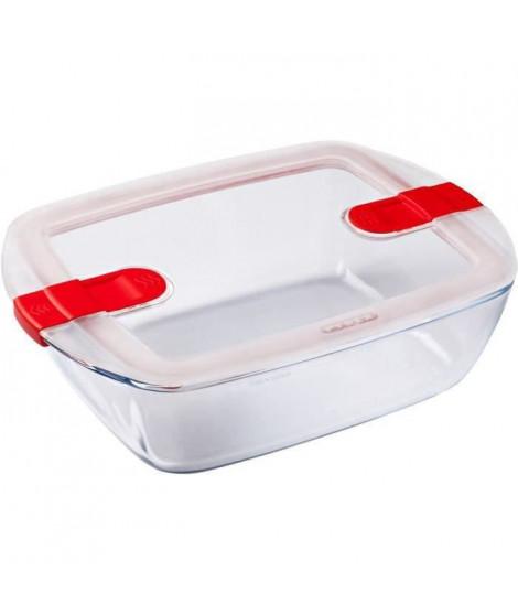 PYREX - COOK&HEAT - Boîte rectangulaire en verre avec couvercle 28*20 cm