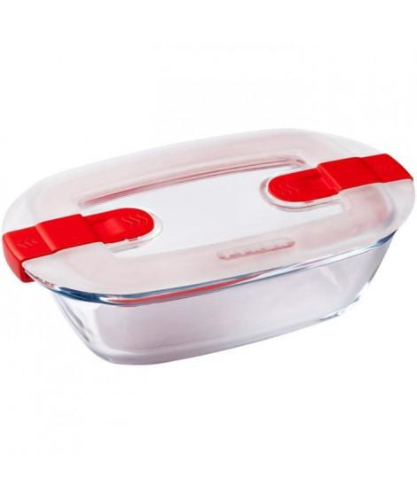 PYREX - COOK&HEAT - Boîte rectangulaire en verre avec couvercle 17*10 cm