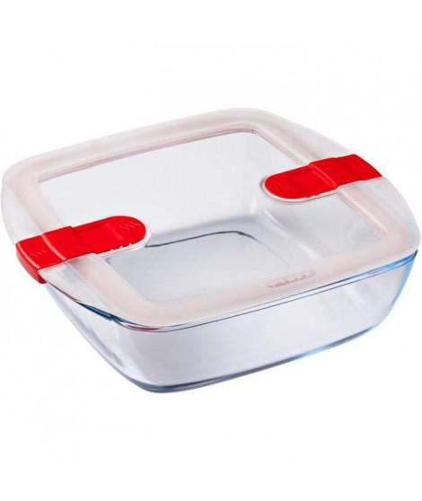 PYREX - COOK&HEAT - Boîte carrée en verre avec couvercle 25*22 cm