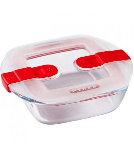 PYREX - COOK&HEAT - Boîte carrée en verre avec couvercle 14*12 cm