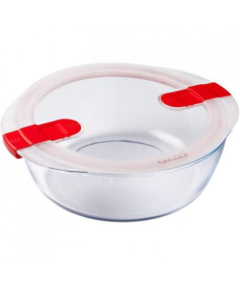 PYREX - COOK&HEAT - Boîte ronde en verre avec couvercle 26*23 cm