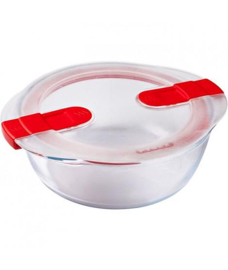 PYREX - COOK&HEAT - Boîte ronde en verre avec couvercle 20*18 cm