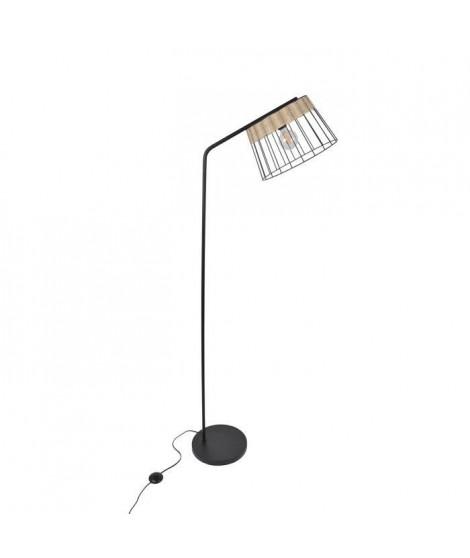 COREP Lampadaire en métal Indah - H 171 cm - E27 - 60 W - Noir mat