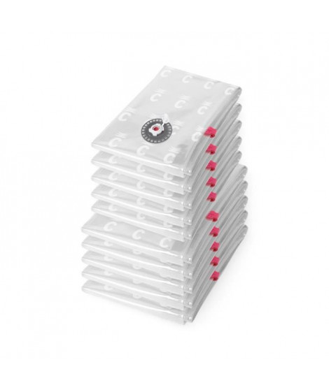 COMPACTOR 2 Lots de 5 sacs de compression Aspispace - Taille 6 M et 4 L - Transparent