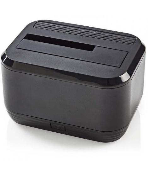 NEDIS Station d'Accueil pour Disque Dur - USB 3.0 - SATA - Baie Unique - avec Adaptateur Secteur (HDDUSB3200BK)