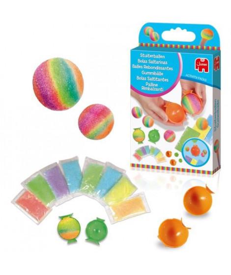 JUMBO 70007 - Balles rebondissantes - Création avec sachets de cristaux colorés phosphorescents