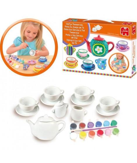 JUMBO 70023 - Peins ton service a thé - Service miniature sur céramique