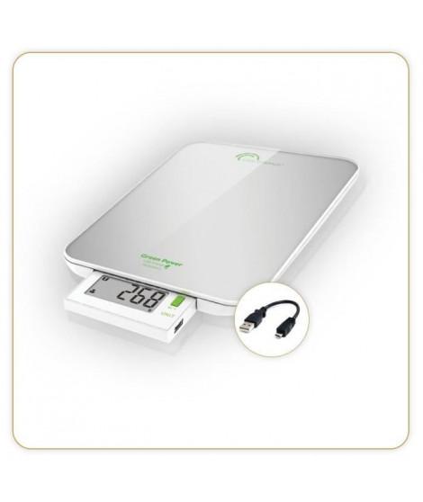 LITTLE BALANCE Balance Green Power USB - 6 kg - 1 g - Silver nacré