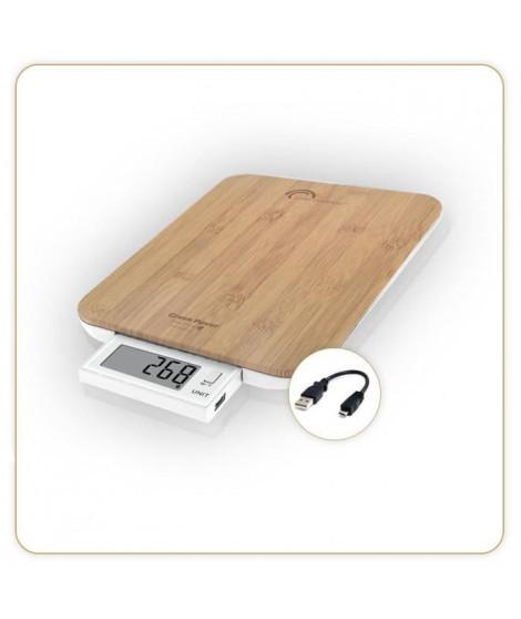 Balance Green Power USB bambou 10kg 1g