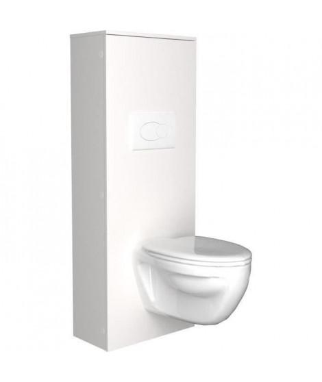 SWEAT Aménagement pour WC - Blanc - L 53 x P 27 x 140 cm