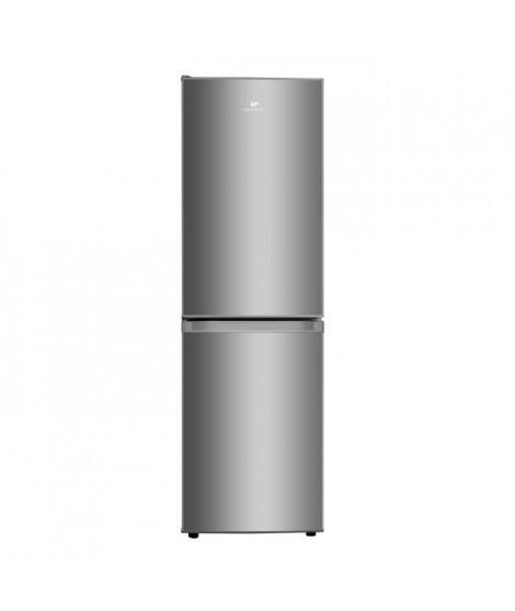 CONTINENTAL EDISON Réfrigérateur combiné 193L(129L + 64L), Total No Frost 4*, Silver