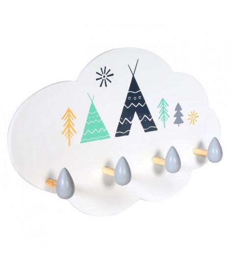 CMP Porte-manteau en bois forme nuage M8