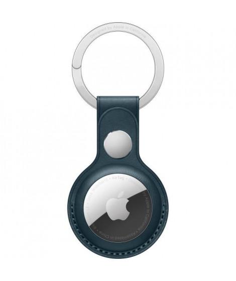 APPLE Porte-clés en cuir AirTag Bleu Intense