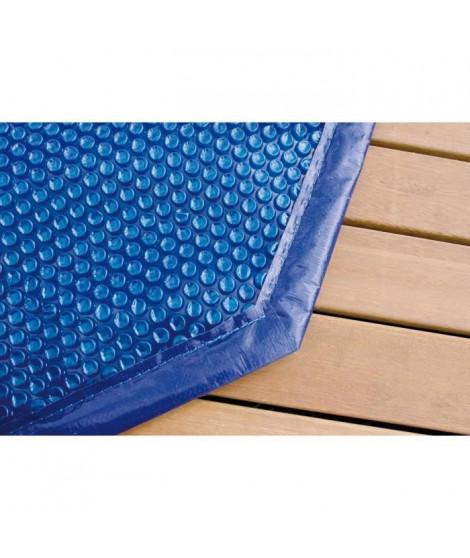 UBBINK Bâche a bulles bordée pour piscine en bois Ø360 cm - Bleu