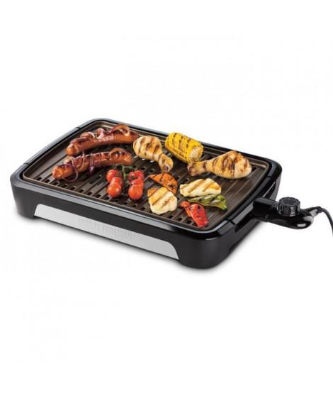 George Foreman 25850-56 Barbecue Grill sans Fumée Intérieur Extérieur, Plaques Amovibles