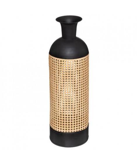 Vase Cannage  Arty  - Noir et beige