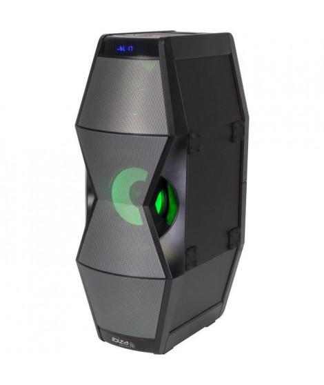 IBIZA SPLBOX450 - Enceinte bluetooth a effets de lumiere a LED - Tuner FM - Ports USB et SD - Entrée AUX