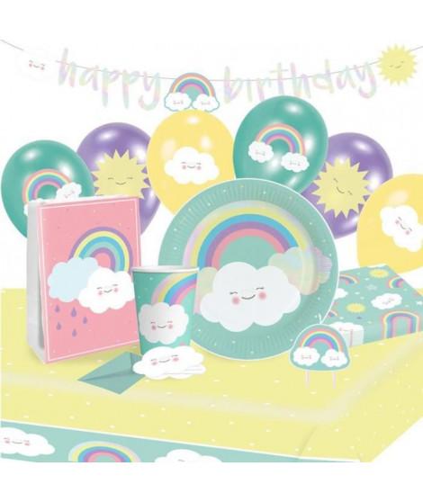 KIt de Fete Rainbow & Cloud 61 Pieces