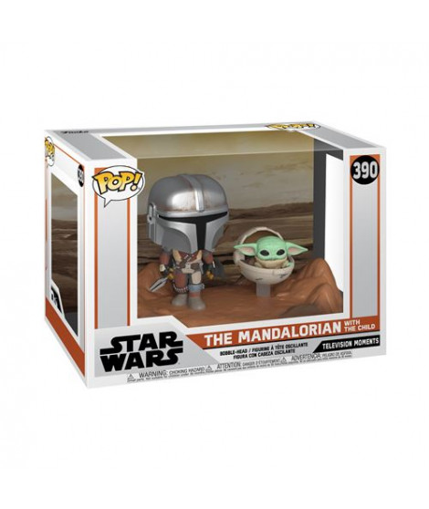 Figurine Funko Pop Moment Star Wars The Mandalorian with The Child