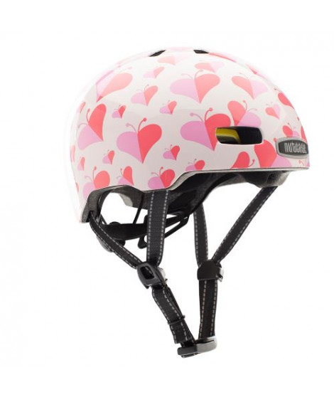 Casque Nutcase Little Nutty Love Bug Blanc et Rose Taille S