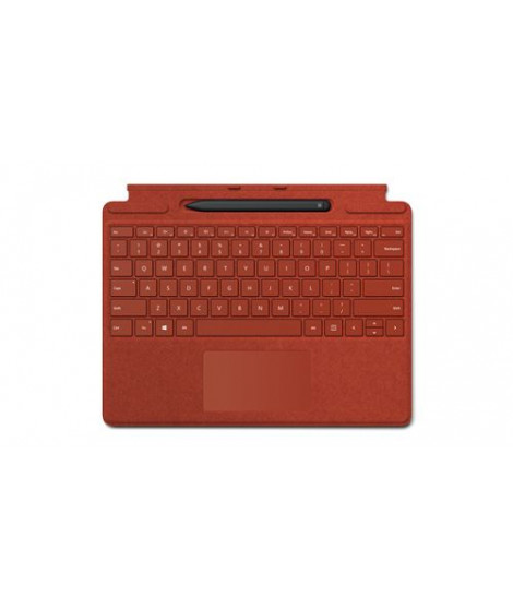 Pack clavier et stylet Microsoft Surface Pro X Rouge Coquelicot