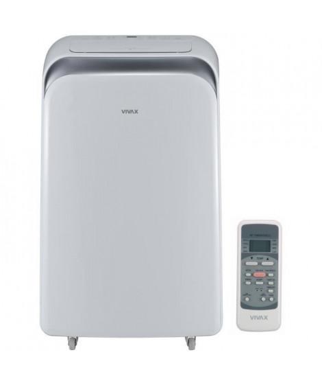 VIVAX ACP09PT25AEF Climatiseur mobile 2500 watts - 8500 Btu - Minuteur - Télécommande - Classe A - Débit : 370 m3/h