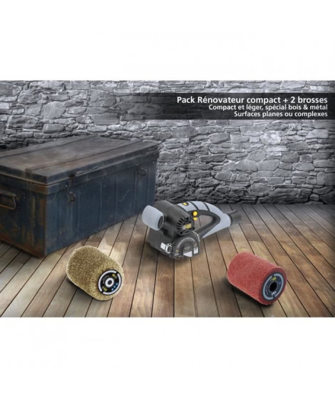 FARTOOLS PACK REX80 RENOVATEUR COMPACT + BROSSE FIL LAITONNE +  + BROSSE FIBRE SYNTHETIQUE