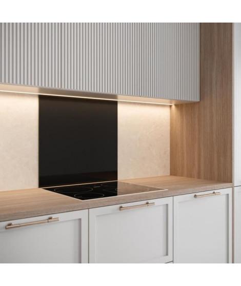 Saint-Gobain Fond de hotte en verre EMAILLE Noir 45x60