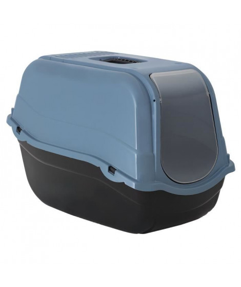 DUVO+ Romeo Eco Bac a litiere 57 x 39 x 41 cm - 1,195 kg - Bleu - Pour chat