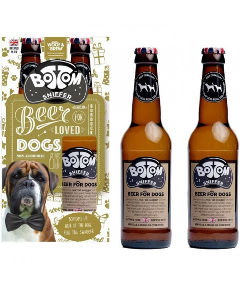 Bottom Sniffer Beer Duo Pack pour chiens 330 ml