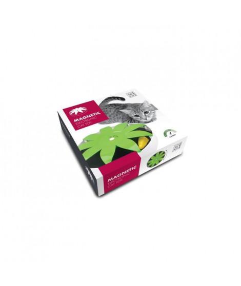 M PETS Jouet magnétique pour chat - 24.5 x 24.5 x 6 cm - Vert et blanc