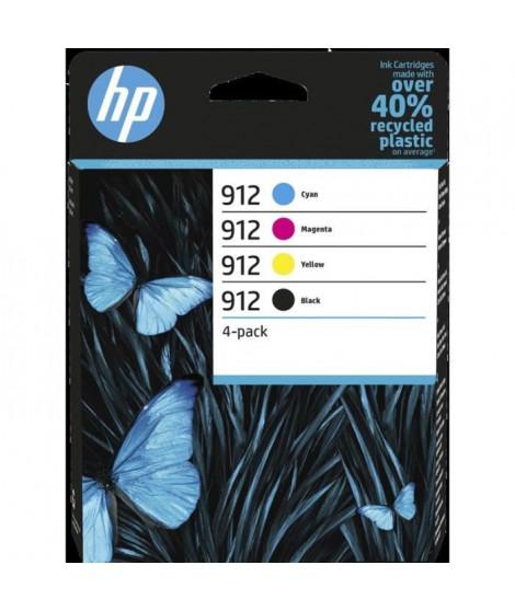 HP 912 pack de 4 cartouches d'encre authentiques, noir/cyan/magenta/jaune (6ZC74AE) pour HP OfficeJet / OfficeJet Pro 8010 / …