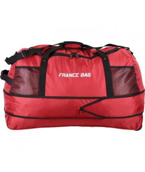 FRANCE BAG Sac de Voyage Pliable XXL Polyester 81cm Rouge