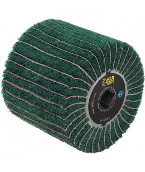 FARTOOLS Brosse fibre synthétique et lamelles abrasives Ø120mm/L100mm