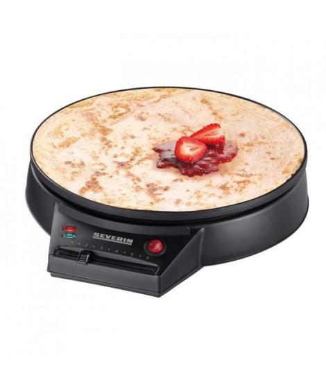 SEVERIN CM2198 - Crepiere diametre 30cm 1000W - Thermostat réglable - Inclus spatule a crepe et répartiteur de pâte en bois -…