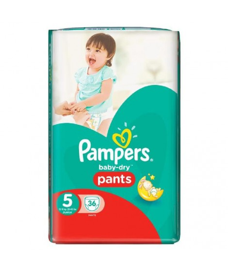 Pampers Baby Dry Pants Taille 5, 12 a 18kg 36 couches