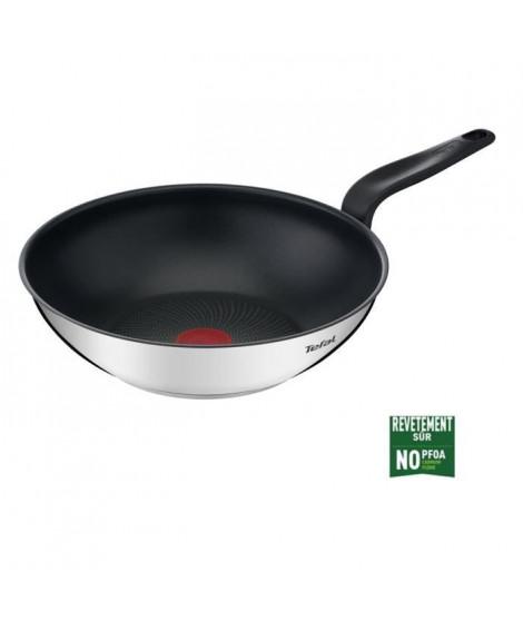 TEFAL E3091904 PRIMARY poele wok inox avec revetement anti-adhésif 28 cm compatible induction