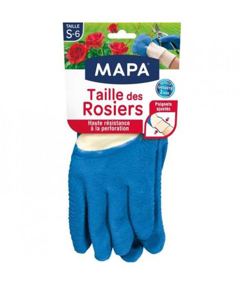MAPA - Taille des Rosiers - Gants de Jardinage Textile 100% Coton - Anti-Perforation - Idéal taille des épineux - Bleus - Tai…