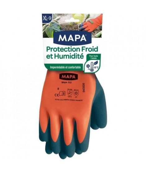 MAPA - Protection Froid et Humidité - Gants de Jardinage Imperméables - Chaud et Confortable - Enduction mousse de Latex  - T…