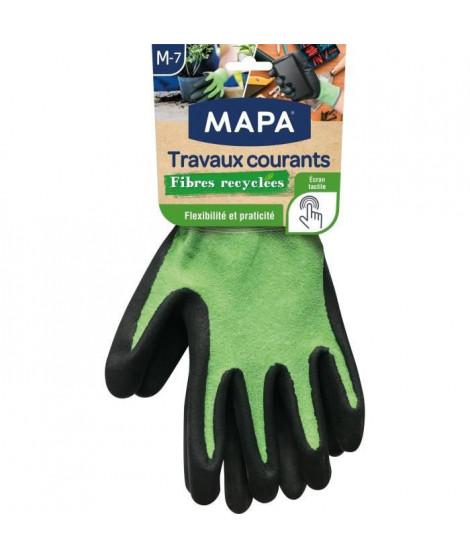 MAPA - Travaux Courants Fibres Recyclées - Gants de Jardinage Multi-Usages Fibres Recyclées - Flexibles et Résistants - Taill…