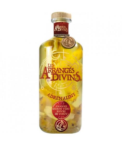 Punch au Rhum Les Arrangés Divins : Adrénaline - Ananas, Citron Vert, Poivre - 28,7° - 70 cl