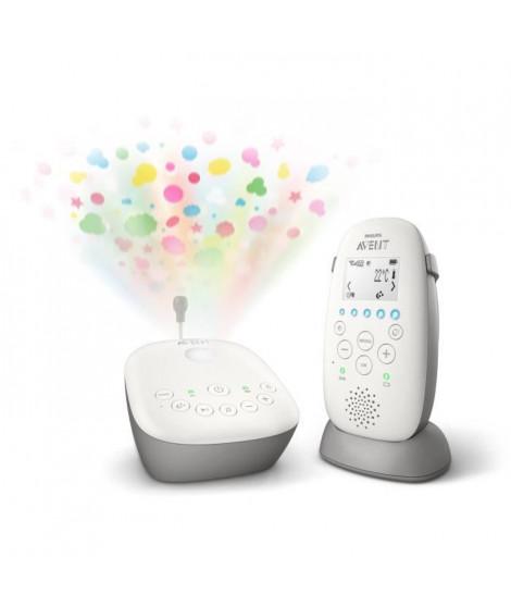 PHILIPS AVENT Ecoute bébé SCD733/00 DECT - Projecteur d'étoiles - Ecran LCD - Base de charge - Mode Smart ECO