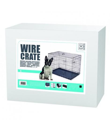 MPETS Caisse métallique Wire Crate S - Noir metal - Pour chien