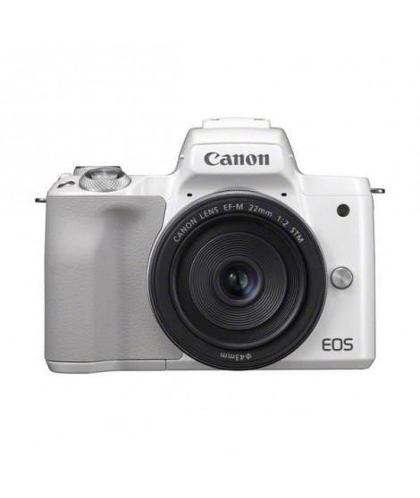 CANON 2681C012 - Appareil Photo Hybride Canon EOS M50 blanc + Objectif EF-M15-45 STM
